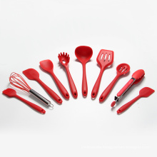 10 pcs silicone kitchen utensil set
