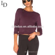 Осень спинки с длинным рукавом женщины блузка дамы дешевые пуловер толстовки