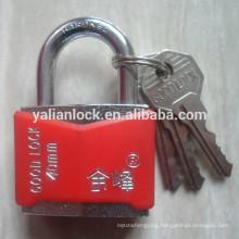Diamond type plastic covered pin mechanism hardened padlock