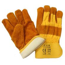 Guantes de trabajo de cuero caliente Thinsulate Guantes de trabajo de cuero caliente para Riggers