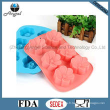 6 fleurs Silicone Chocolat Moule Cube Tray Baking Tool Sc34