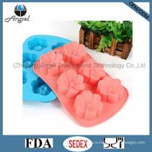 6 цветов силиконовые формы для выпечки кубиков льда силикона Sc34