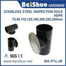 Raccord de tuyau en PEHD avec trou d'inspection en acier inoxydable