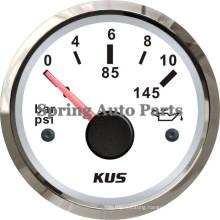 Best Sale Waterproof 52mm Mechanical Oil Pressure Gauge Meter 0-10 Bar with Backlight