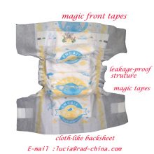 Cloth-Like Breathable Soft Backsheet Baby Nappies