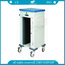 AG-CHT010 ABS nursing record hospital file trolleys cart