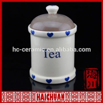 Customized eco-friendly ceramic container for home