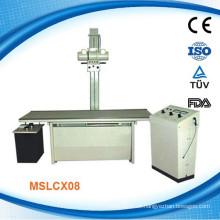 MSLCX08W Medical 100mA Röntgen-Röntgen-Maschine in Körper Kopf, Brust, Fuß und Hand, bonesin liegend)