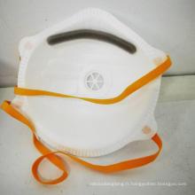 Masques en forme de bonnet pour adulte anti-poussière Réanimation respiratoire Efficacité de filtration KN95 bouche visage