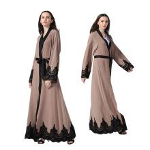 Premium polyester femmes robe femmes dernière conception broderie abaya