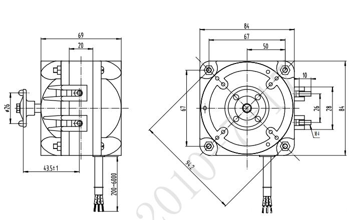 Steel stator anti-rust steel shaded pole induction motor / water-cooling motor