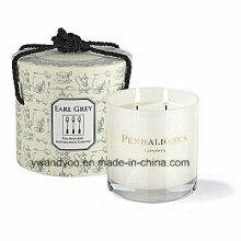 Vela elegante regalo perfumado de soja en frasco de vidrio