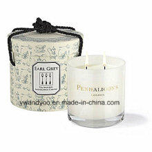 Elegant Scented Soy Gift Candle in Glass Jar