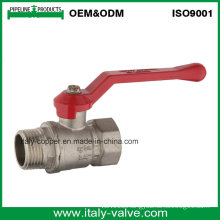 Made in China Quality Brass Plated Male Ball Valve (AV10080)