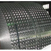 Aluminum Checkered Tread Coil with 5 Bars