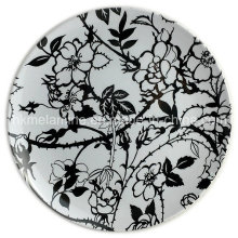 8inch Round Melamine Dish with Design