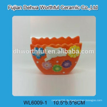 Kaninchendekoration keramische Blumenvase