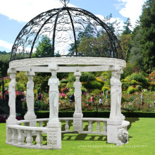 chinese stone carving natural stone marble gazebo wholesale