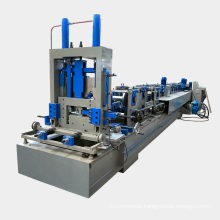Full automatic c z u section steel profile shaped light steel framing czu purlin roll forming machine for sale