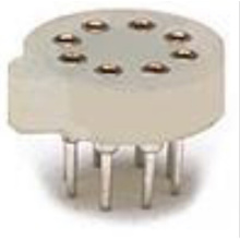 Crystal Socket Straight 2-9 P-connector