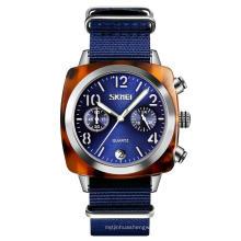 SKMEI 9186 Fashion Chronograph Quartz Watch Japan Movt Nylon Wristwatch