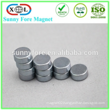 high quality small round magnet plastic wrap magnet