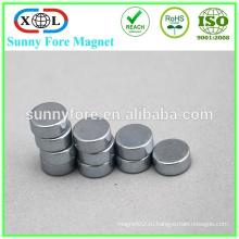 высокое качество небольшой круглый магнит магнит полиэтиленовой пленкой