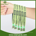 Personalized custom unique disposable fabric wristbands for activity