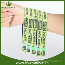 Promotion fabric embroidery security custom wristbands