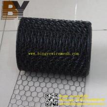 Rede de arame sextavada galvanizada revestida PVC da rede de fio da galinha