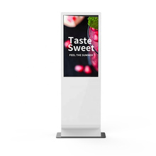 Floor standing video lcd advertising player 55 inch standalone airport hotel digital signage display