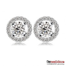 Circle Zircon Wedding Earrings for Women (CER0002-B)