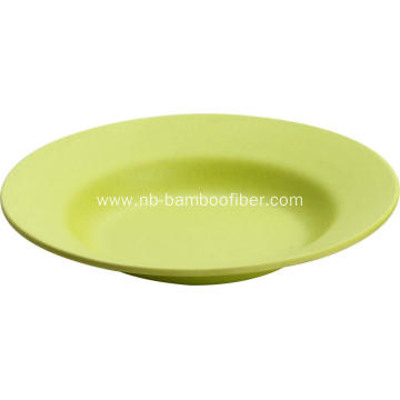 Simple round bamboo fiber dinner plate