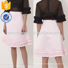New Fashion Pink Frill Trim A-Line Summer Mini Daily Skirt DEM/DOM Manufacture Wholesale Fashion Women Apparel (TA5028S)