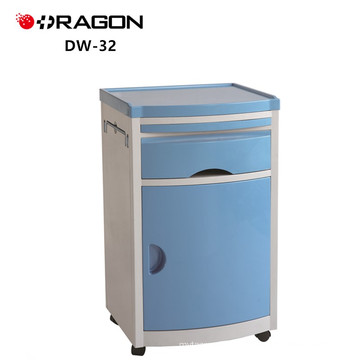 DW-32 Bedside Cabinet hospital ABS Medical bed table with drawer