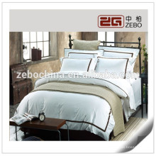 Heißer Verkauf Großhandelsweißes Baumwollhotel verwendete volle Bettsätze