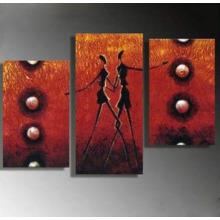 Последние декоративные красивой группы людей масляной живописи