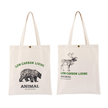 Wholesale Promotion Custom Logo Eco-Friendly Shopping Recycled Grocery Bags Reusable Canvas Tote Bag for Party Commercial Gift