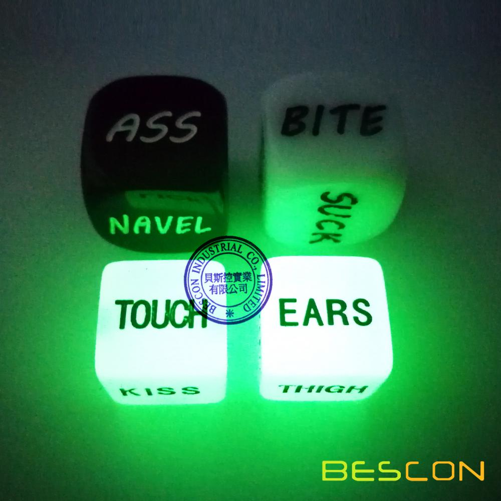 Love Dice Lover Sex Dice, 2 Pair Couple Dice for Bachelor Party Adult Dirty Dice Game Toy Spicy Dice