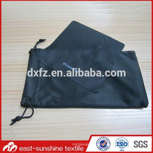 Paño de limpieza de microfibra de lentes de logotipo de diseño personalizado y bolsa