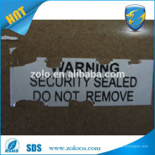 Made in com Professional Manufacturer Shenzhen ZOLO anti-counterfeit fragile shipping labels