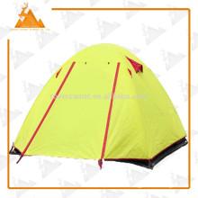 Al aire libre camping deportes bicapa tienda poste de aluminio de gran tienda de campaña carpa exterior resistente al agua alta 3-4 persona