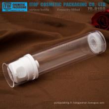 ZB-B180 180ml couleur personnalisable grande demande pour les produits cosmétiques clair flacon airless 180ml