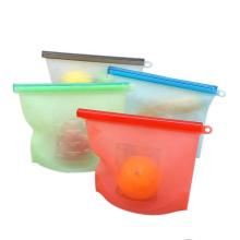 Bolsa de almacenamiento de alimentos de silicona reutilizable stasher ecológica