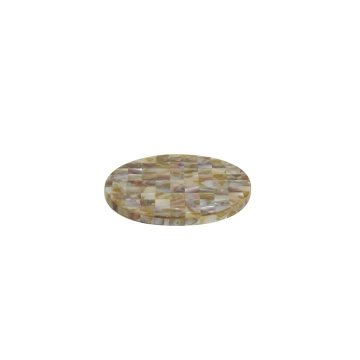 China OEM for Mother of Pearl Inlay Cup coaster Good Quality Mother of Pearl Round Cup Coaster supply to Romania Suppliers