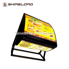 2017 Best Selling Shine Long LED restaurante menú colgante