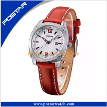 Stainless Steel Japan Movement Quartz Leather Women Watch