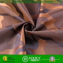 100% полиэстер Пряжа окрашенная ткань с Камуфляж куртку или траншеи