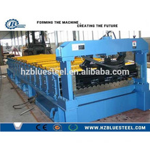High Speed Color Steel Step Roof Tile Making Machine Price / Corrugated Roof Roll Forming Machine