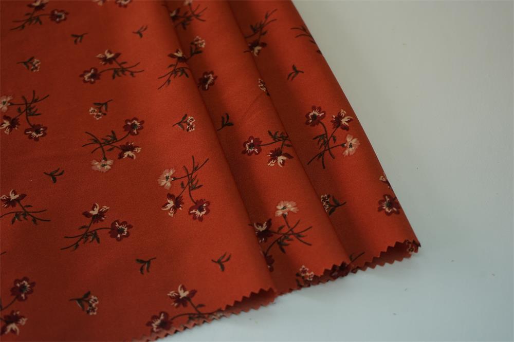 Hammered Satin Plain Print Fabric